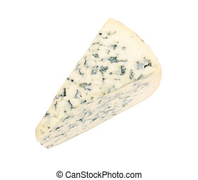 Piece of cheese with mold