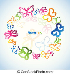 Colorful butterfly. Vector - illustration with colorfull...