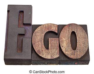 -, palabra,  ego, texto impreso, tipo