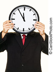 Clock manager in front of the head with stress