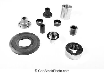 Automobile Parts - Parts of an automobile engine, isolated...