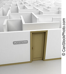 Customer Service Concept - Conceptual image of real life...