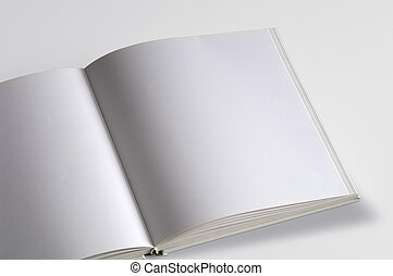White pages book isolated over white background
