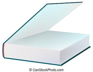 Blue open book