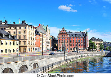 Stockholm, Old Town - Stockholm, Sweden. Old Town and the...