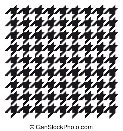 Woven houndstooth black and white