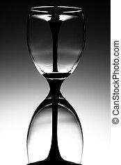 Wine glass hourglass