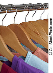t shirts on cloth hangers
