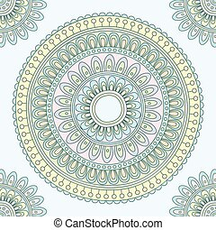 Abstract Indian pattern. Vector ill
