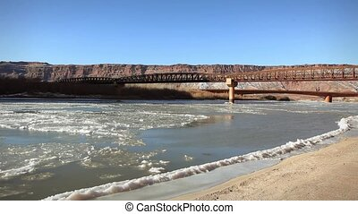 1247 Winter Colorado River Moab UT - Great for themes of...