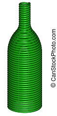 3D render of a wine bottle