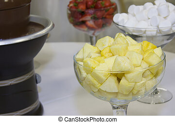 pineapple chunks for dipping - fresh pineapple chunks with...