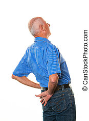 Elderly man with back pain