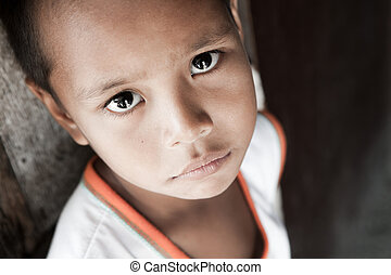 Filipino boy portrait - Portrait of a Filipino boy living in...