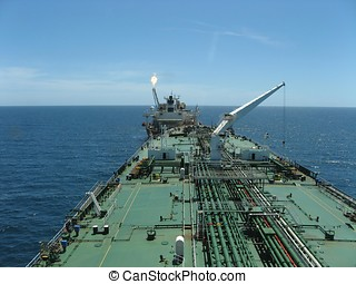 Oil tanker loading from a FPSO