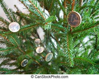 one euro xmas decoration