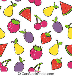 Fruit seamless background Vector illustration
