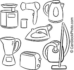 Household appliances. Vector illustration.