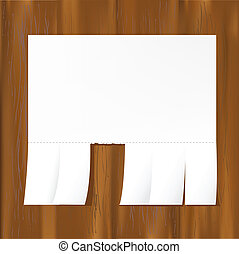 Blank Advertisement On Wooden Wall, Vector Illustration