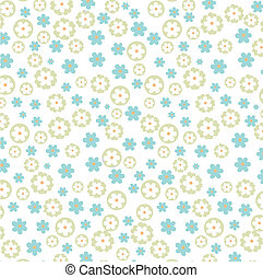 vector blue flowers background