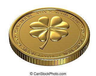 Lucky gold coin.