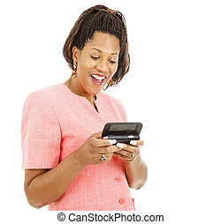 Interesting Text Message - Beautiful african american woman...