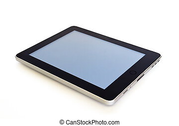 digital tablet on white background