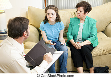 Counseling Series - Getting Help - Worried mother looks on...