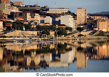 Regua - city of Peso da Regua and it's reflection on douro...
