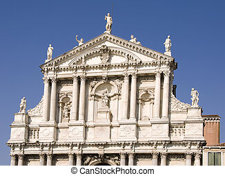 Building in Venice - Famous catedral on Grand Canal in...