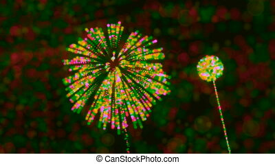 Loopable abstract Fireworks