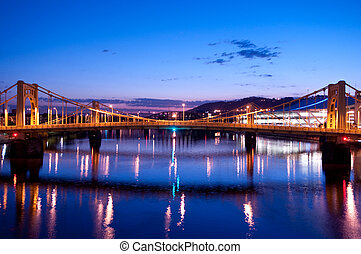 Pittsburgh Skyline: Andy Warhol Bridge - A view of the Andy...