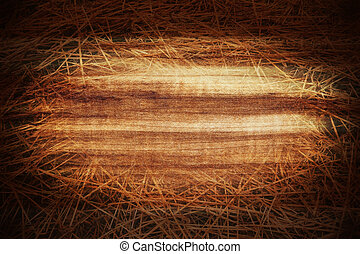 Grungy wood and hay background
