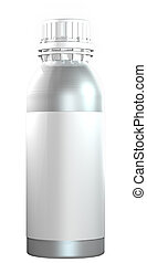 Aluminium or steel bottle with plastic twist cap - 3D...