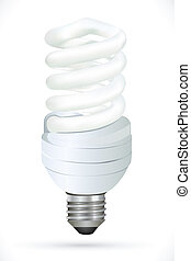 cfl on white background - illustration of cfl on white...
