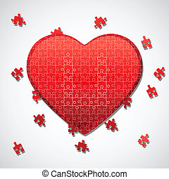 jigsaw puzzle heart