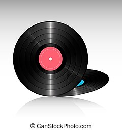 compact discs - illustration of compact discs on white...