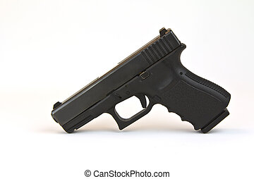 Pistol - Law enforcement pistol (Black) with clip