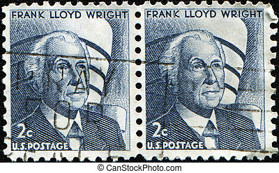 Frank Lloyd Wright - UNITED STATES OF AMERICA - CIRCA 1966:...