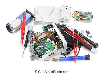 Cracked digital video camera
