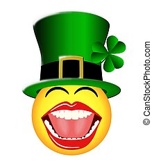 St. Patrick's Day Smiley Face
