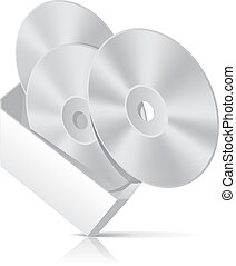 CD box with disks template