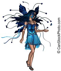 Butterfly Fairy - Blue