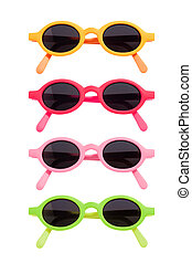 Coloured Sunglasses Set - Coloured pairs of sunglasses...