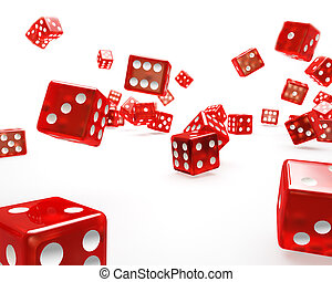 Falling Red Dice