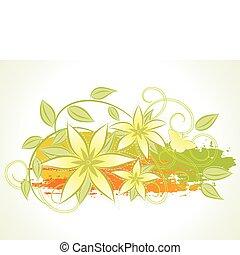 Summer floral background.