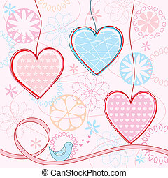 Valentines background Vector illu - Valentines background...