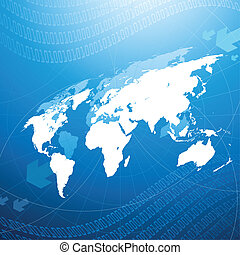 Global Network Concept - An illustration representing global...