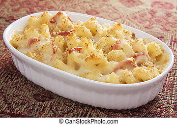 Tomato Mac & Cheese - Creamy baked macaroni and cheese with...