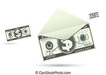 Dollar Envelope - illustration of dollar envelope on...